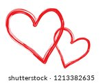 hearts vector. hand drawn icons.... | Shutterstock .eps vector #1213382635