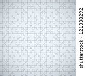 seamless puzzle texture. eps10... | Shutterstock .eps vector #121338292