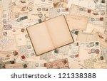 nostalgic vintage background... | Shutterstock . vector #121338388