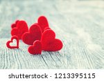 valentines day background. red... | Shutterstock . vector #1213395115