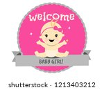 celebration welcome for baby... | Shutterstock .eps vector #1213403212
