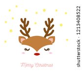 a pretty picture of a reindeer... | Shutterstock .eps vector #1213408522