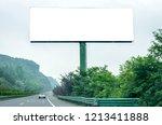 blank billboard ready for new... | Shutterstock . vector #1213411888