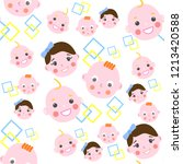 seamless pattern with baby... | Shutterstock .eps vector #1213420588