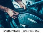 closeup of rapairman hands...   Shutterstock . vector #1213430152