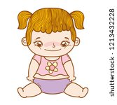 cute baby cartoon | Shutterstock .eps vector #1213432228