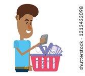 man on social networks | Shutterstock .eps vector #1213433098