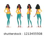 collection of turning various... | Shutterstock .eps vector #1213455508