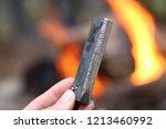 a flint and magnesium fire... | Shutterstock . vector #1213460992