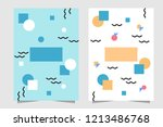 white and turquoise background...   Shutterstock .eps vector #1213486768