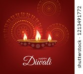 happy diwali traditional... | Shutterstock .eps vector #1213491772