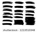 brush lines set. vector... | Shutterstock .eps vector #1213510348