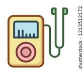 audio player   mp3   earphone   | Shutterstock .eps vector #1213512172
