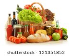 composition with grocery... | Shutterstock . vector #121351852