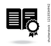 certificate document symbol.... | Shutterstock .eps vector #1213534942