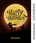 halloween poster. vector... | Shutterstock .eps vector #1213560265