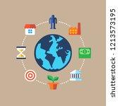 business environment. flat...   Shutterstock .eps vector #1213573195