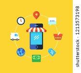 mobile marketing  online...   Shutterstock .eps vector #1213573198