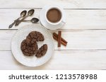 cup of hot chocolate and... | Shutterstock . vector #1213578988