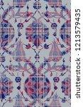 modern turkish tile motif.... | Shutterstock . vector #1213579435