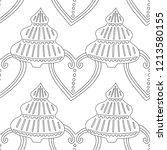gingerbread. black and white... | Shutterstock .eps vector #1213580155