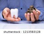close up of a man's hand... | Shutterstock . vector #1213583128