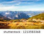 scenic view of austrian alps... | Shutterstock . vector #1213583368