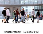 a large group of young men and... | Shutterstock . vector #121359142