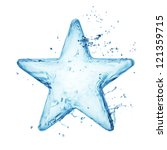 Star From Water Splash Isolated ...