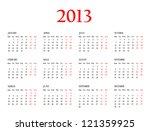 calendar 2013. template for... | Shutterstock . vector #121359925
