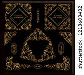 vector set of squares ... | Shutterstock .eps vector #1213603432