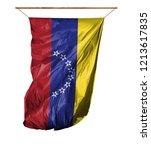flag of venezuela. isolated on... | Shutterstock . vector #1213617835