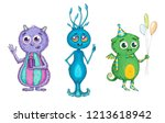 set with color and lovely... | Shutterstock . vector #1213618942