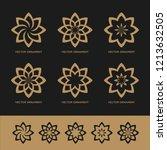 vector set design golden... | Shutterstock .eps vector #1213632505