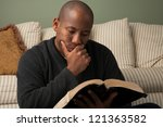 african american studying the... | Shutterstock . vector #121363582