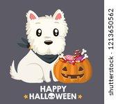 vector halloween dog breed west ... | Shutterstock .eps vector #1213650562