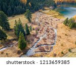 drone image of the wetland with ...   Shutterstock . vector #1213659385
