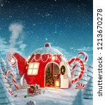 amazing fairy house decorated... | Shutterstock . vector #1213670278
