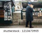 paris  france   october 7  2016 ...   Shutterstock . vector #1213673905