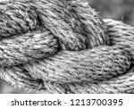 old rope background in black... | Shutterstock . vector #1213700395
