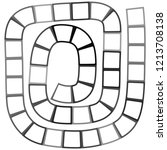 abstract futuristic maze ...   Shutterstock . vector #1213708138