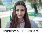 beautiful girl  portrait | Shutterstock . vector #1213708525