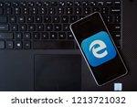 bukit lawang  sumatra  ... | Shutterstock . vector #1213721032