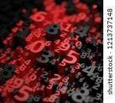 abstract 3d numbers background. ... | Shutterstock . vector #1213737148