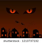 monster's eyes in the night sky ... | Shutterstock .eps vector #1213737232