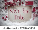 red christmas decoration  snow  ... | Shutterstock . vector #1213765858