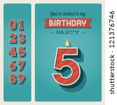 happy birthday card invitation... | Shutterstock .eps vector #121376746