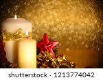 christmas decoration of burning ... | Shutterstock . vector #1213774042