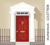 classic style front door  ... | Shutterstock .eps vector #121377838