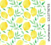 watercolor seamless pattern... | Shutterstock . vector #1213778755